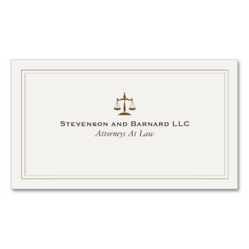 Classic Attorney Business Card Lawyer Business Cards Pinterest - Attorney business cards templates