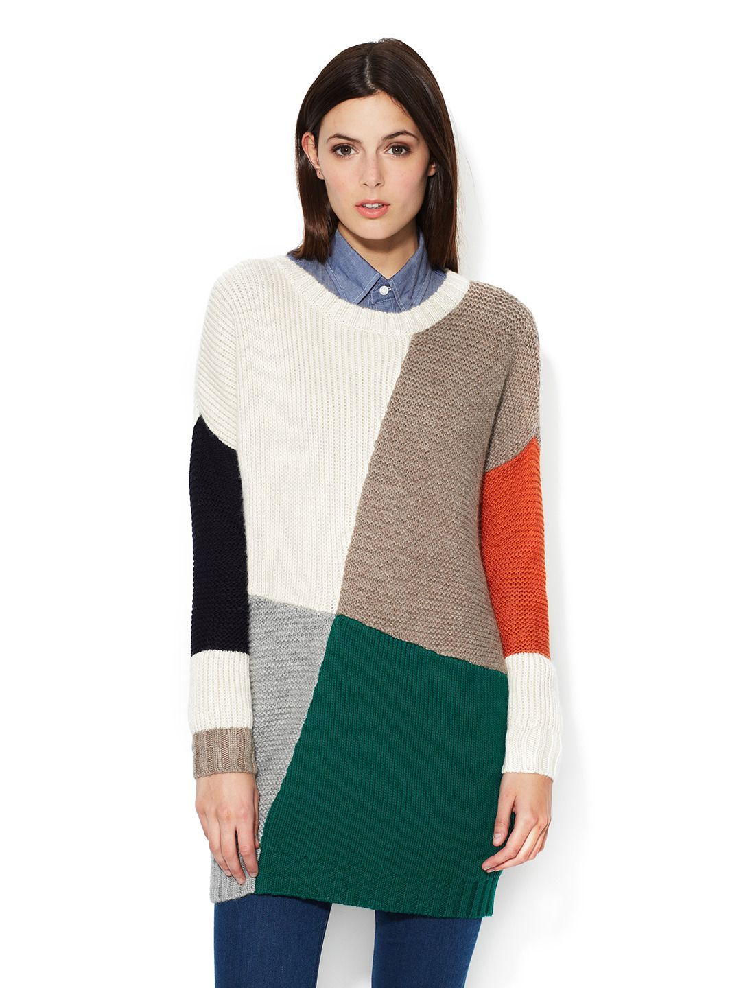 2558de567 Blanket Baby Alpaca Colorblocked Sweater by Boy by Band of Outsiders ...