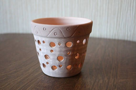 Handmade Ceramic Pot For Orchids Two Sizes Of Pots 4 Or 8 Matherial Ceramic Color Light Pink Diameters 10 Orchid Pot Clay Orchid Pots Ceramic Plant Pots