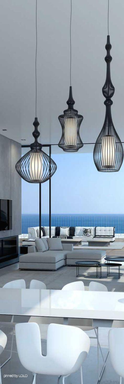 Außergewöhnliche #Hängeleuchten Im #Wohnzimmer // Extraordinary #pendant  Hanging In The #livingroom