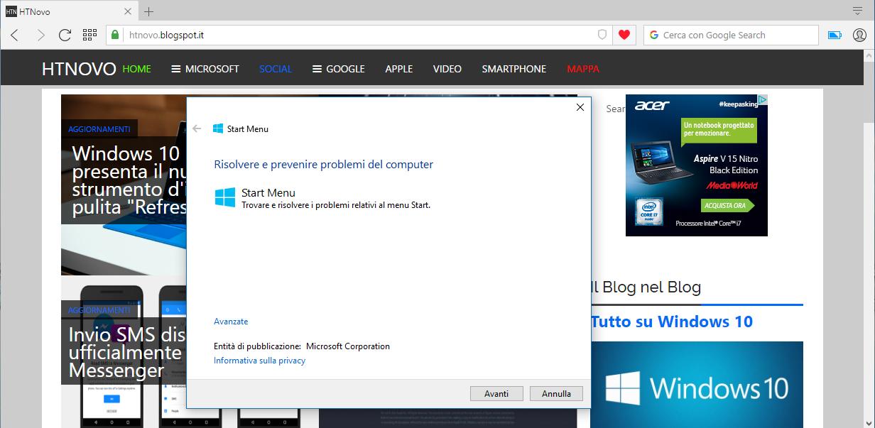 Fix #Microsoft per i problemi del #MenuStart di #Windows10 - http://bit.ly/28LI06a via @HTNOVO