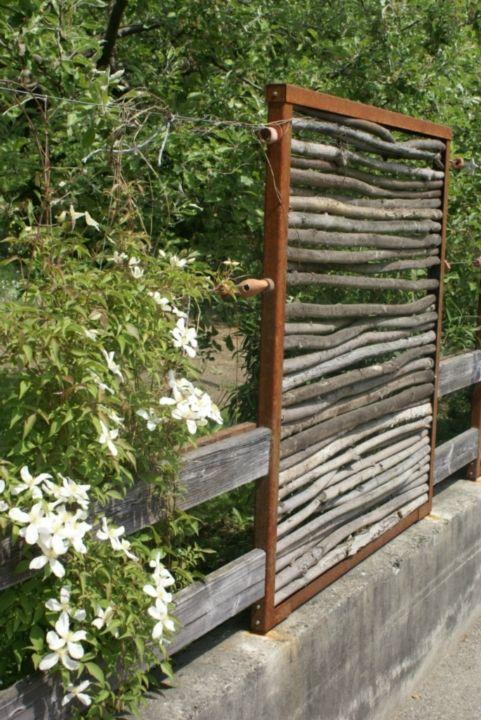Bildergebnis für sichtschutz mit brennholz sichtschutz für - garten sichtschutz stein