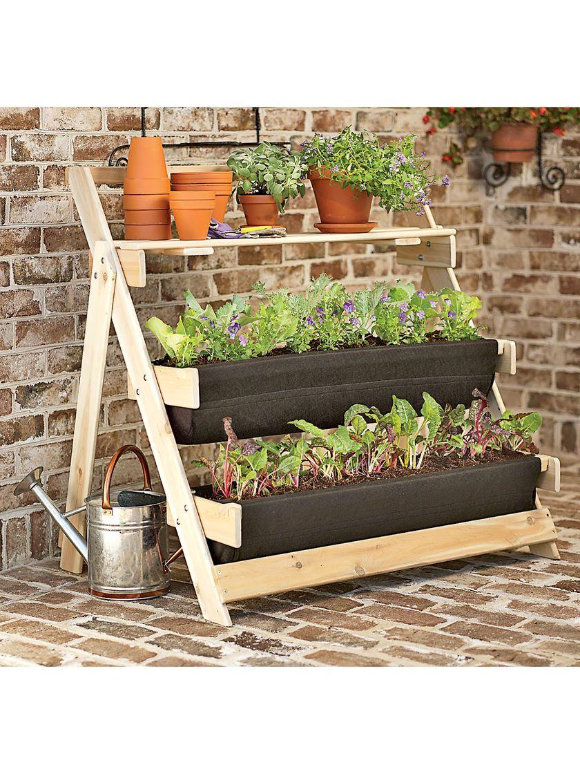 Grow Bag Terrace Kit Cedar garden terrace for patio or