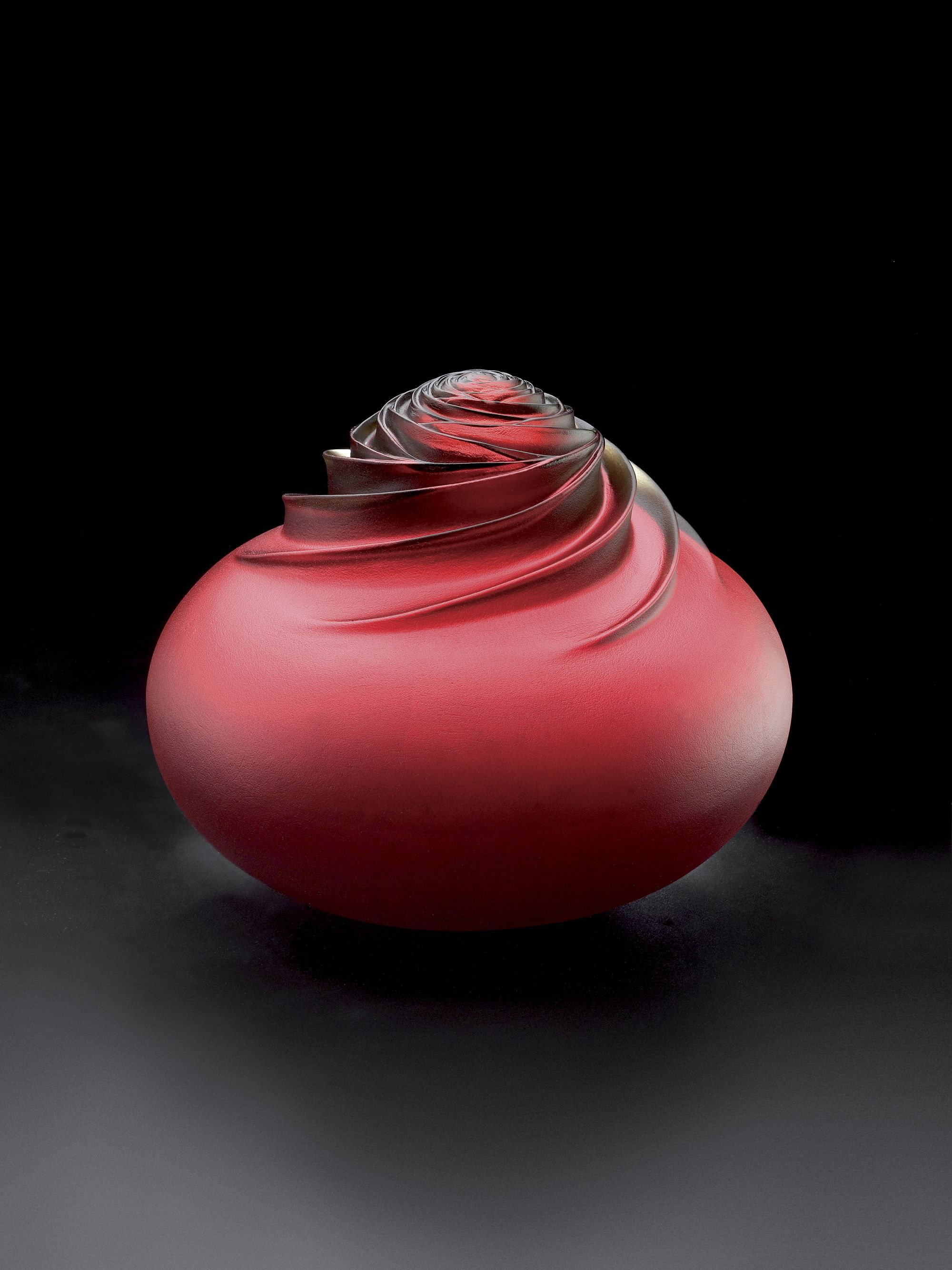 Rose Red - Mold Melted Glass