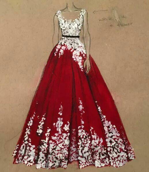 Lehenga Sketch Dress Fashion Illustrations