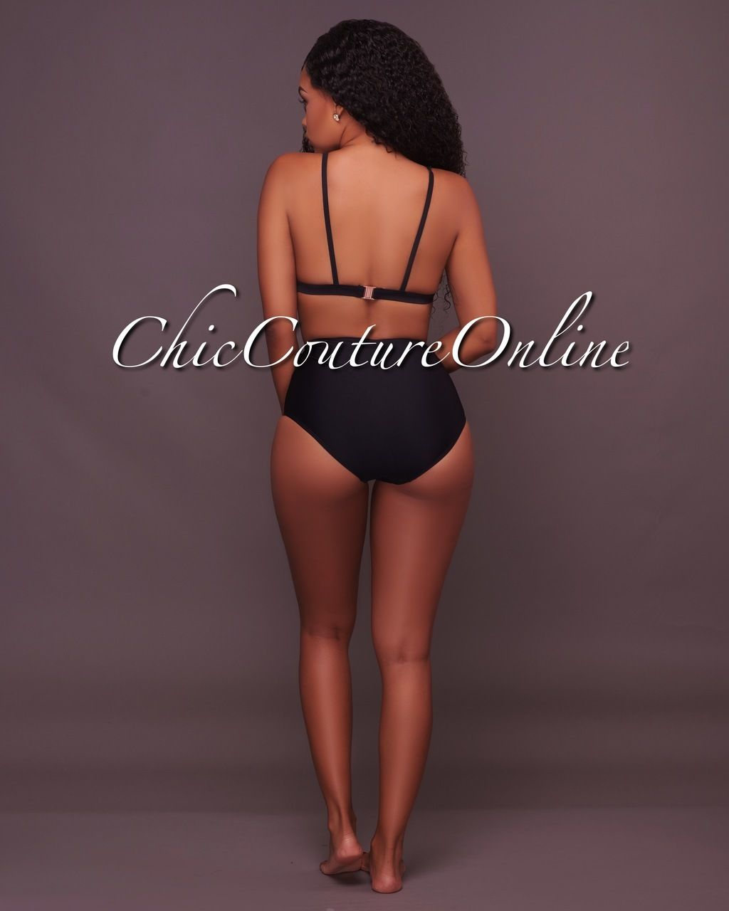 f598f224d7e5f Chic Couture Online - Kelani Black Embroidered Two Piece Swimsuit ...