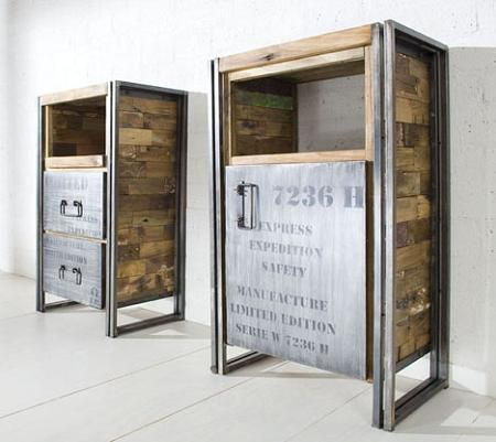 Muebles reciclados para un estilo industrial MUEBLES - OBJETOS - muebles reciclados