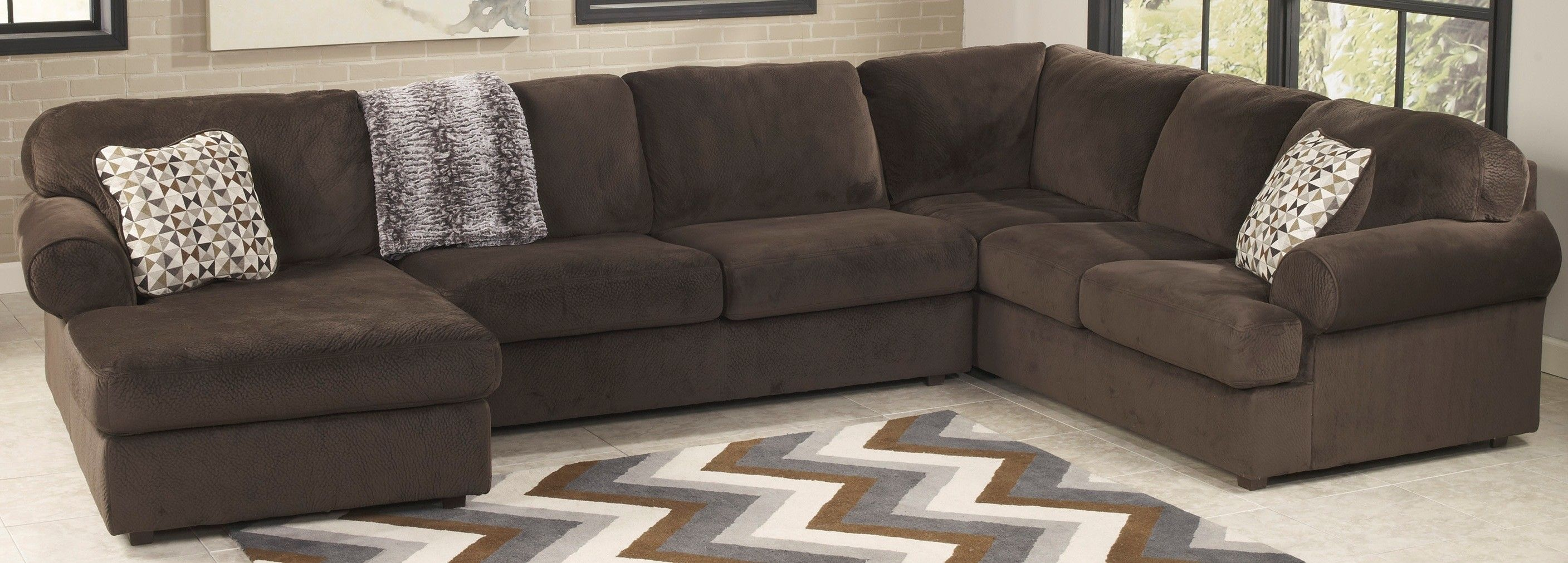 Ashley Furniture 3980467 3980434 3980416 Jessa Place Chocolate For Sectional Reviews 31944