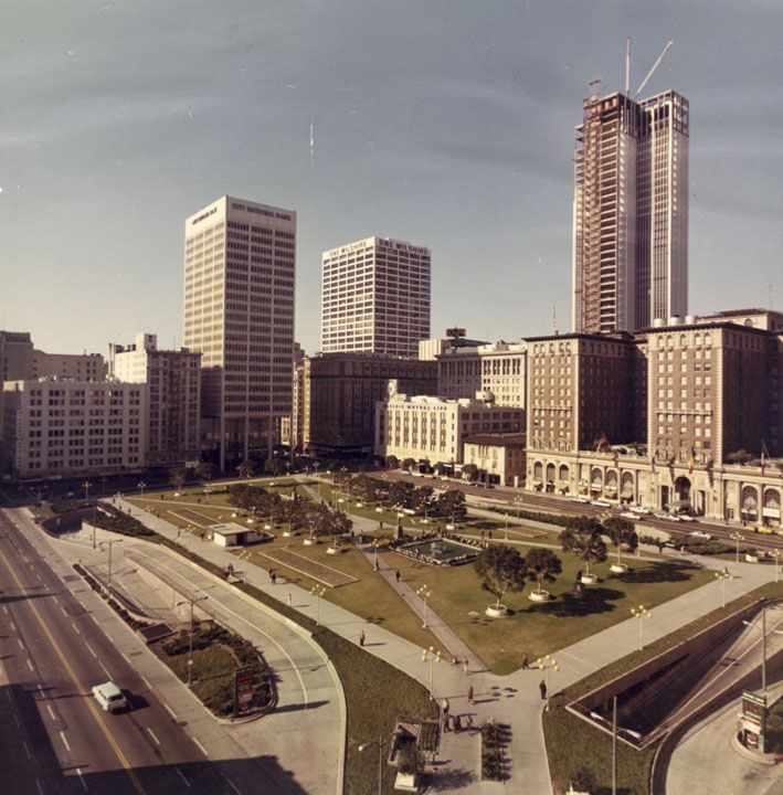 Here S What Pershingsquare Looked Like In 1968 Dtla Tbt Los Angeles History East Los Angeles Los Angeles Area