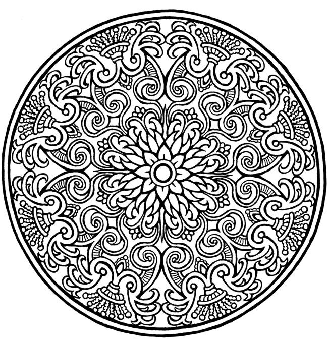 free mandala design coloring pages