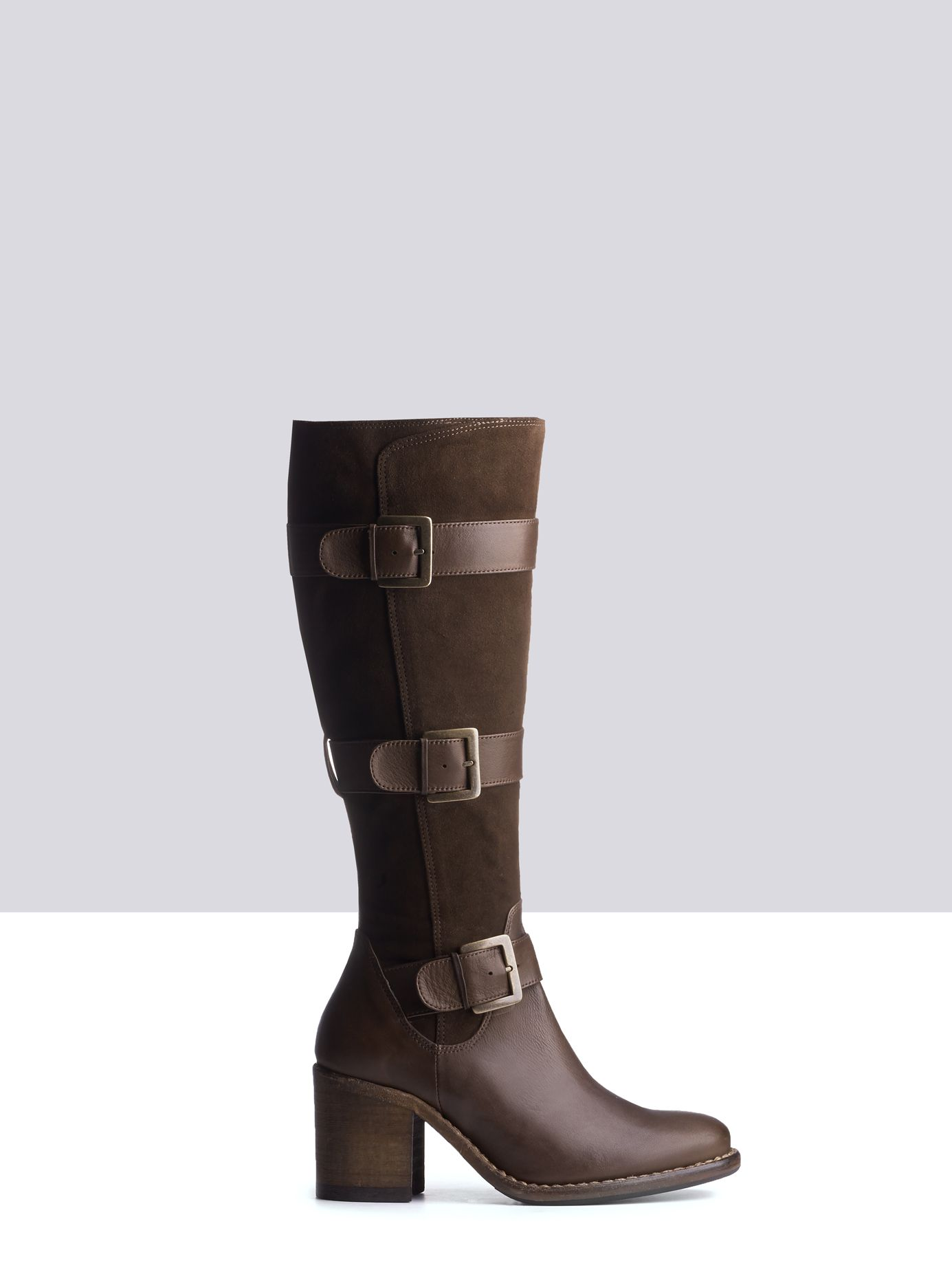 Peronella Brown Leather ladies boots small 1 | Brown leather