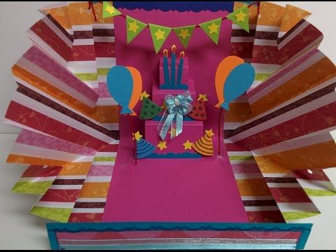 Art And Craft How To Make Explosion Pop Up Birthday Card