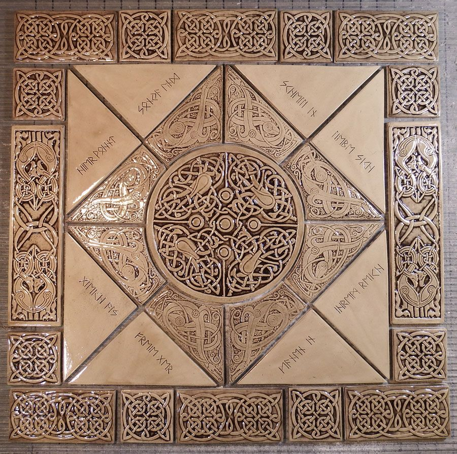 Relief carved celtic ceramic tile set with custom etched runes relief carved celtic ceramic tile set with custom etched runes available in a wide range dailygadgetfo Gallery