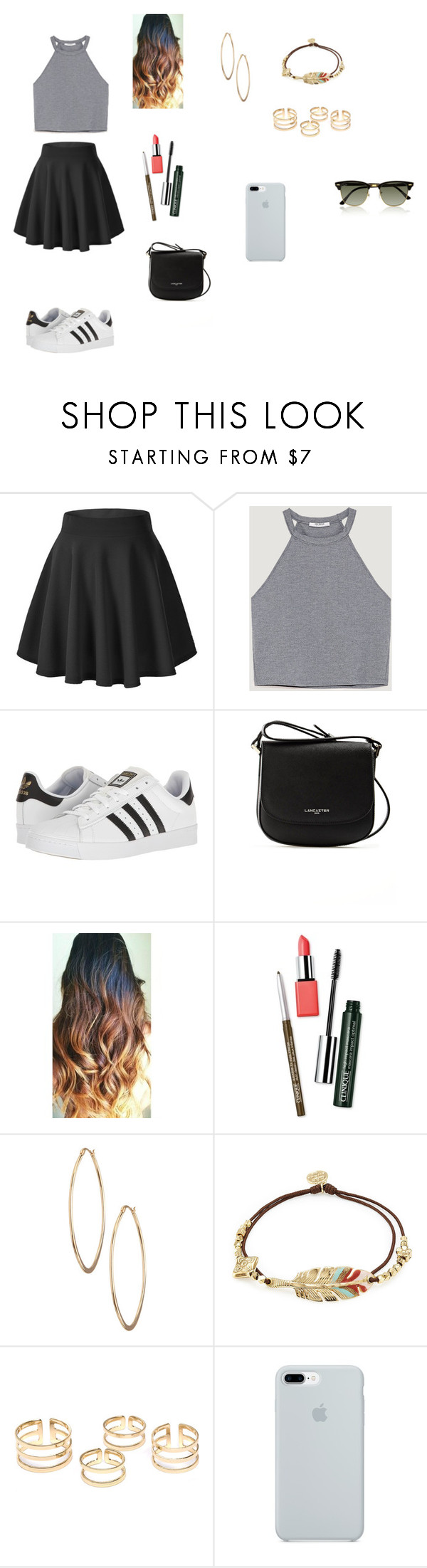 """Sem título #96"" by fernanda-guttilla on Polyvore featuring adidas, Lancaster, Clinique, Lydell NYC, Gas Bijoux, ETUÍ, Ray-Ban, men's fashion e menswear"