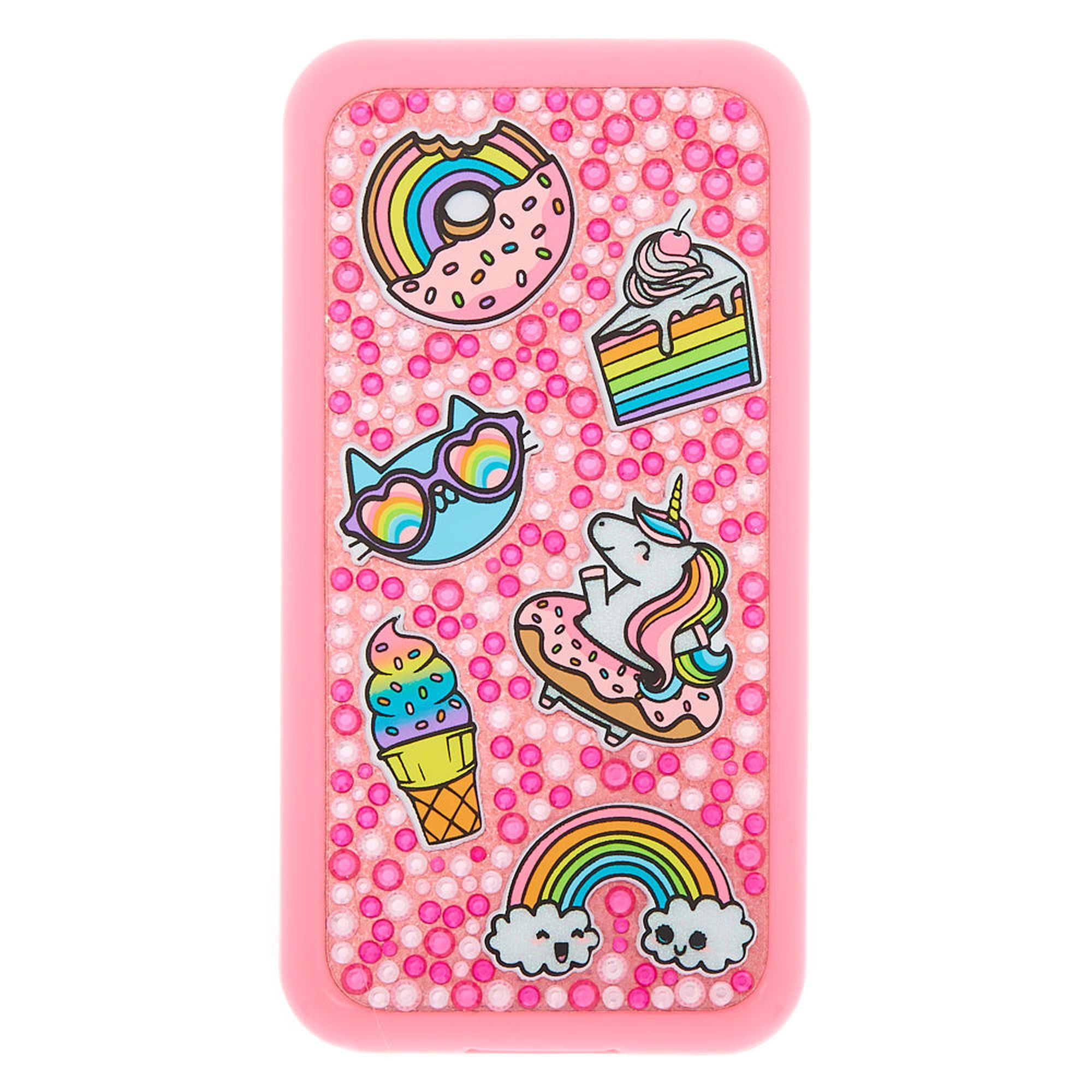 Claire's Chasing Rainbows Cell Phone Bling Makeup Set