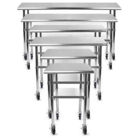 Gridmann™ NSF Stainless Steel Commercial Kitchen Prep & Work Table w ...