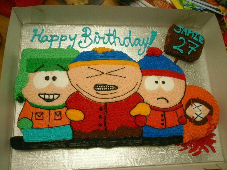 South Park Cake Park Birthday South Park Birthday Theme