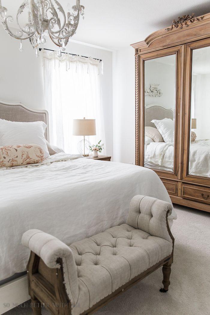 French Vintage Master Bedroom Spring Tour | homes I like | Grey ...