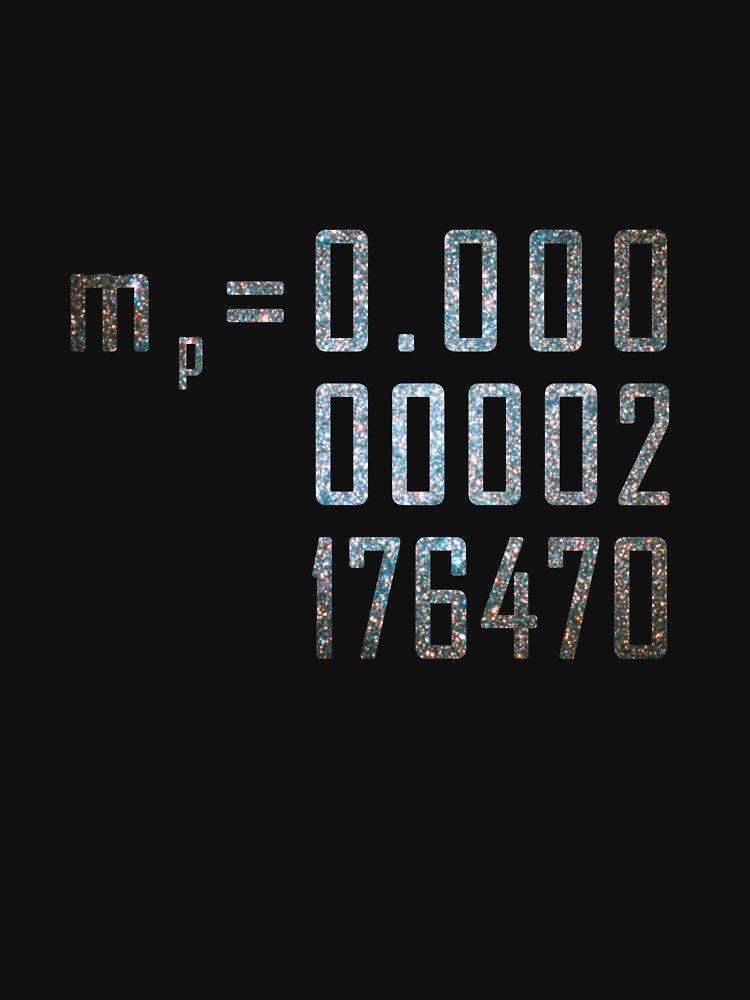 Planck mass | Slim Fit T-Shirt | T shirt, Tshirt colors, Special ...