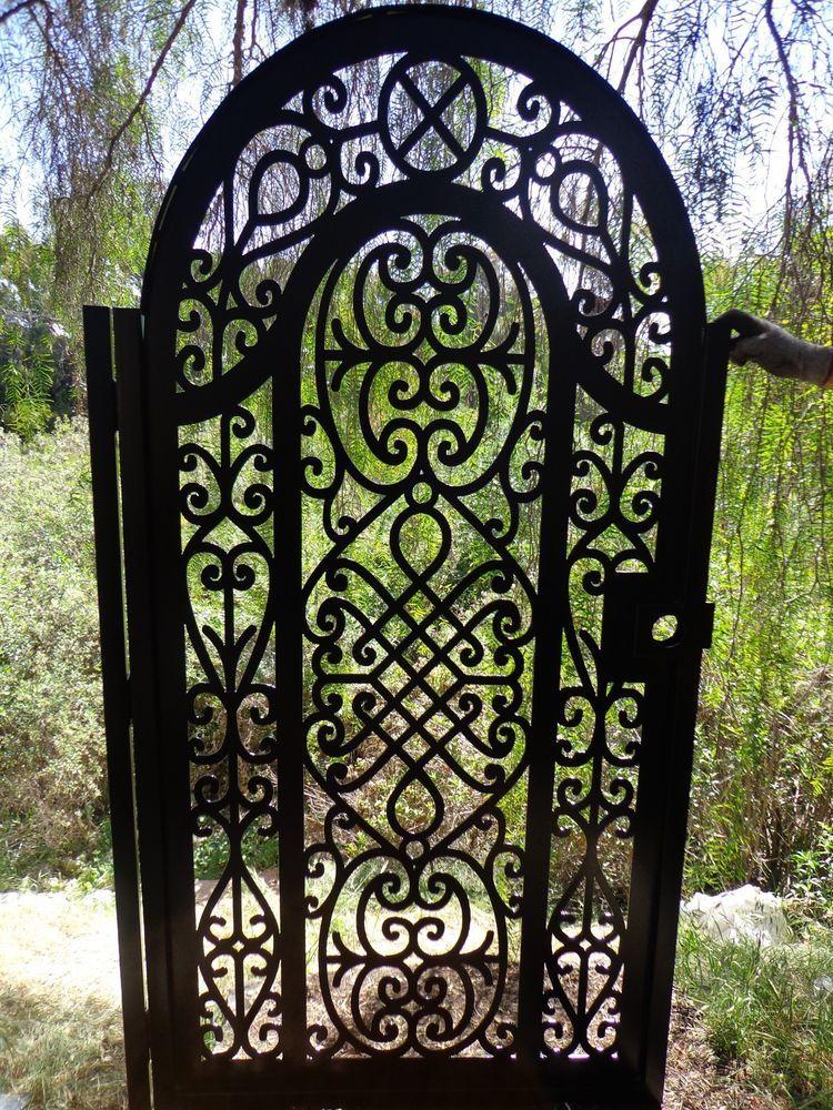Metal Gate Pedestrian Walk Thru Iron Steel Garden Art Ornamental