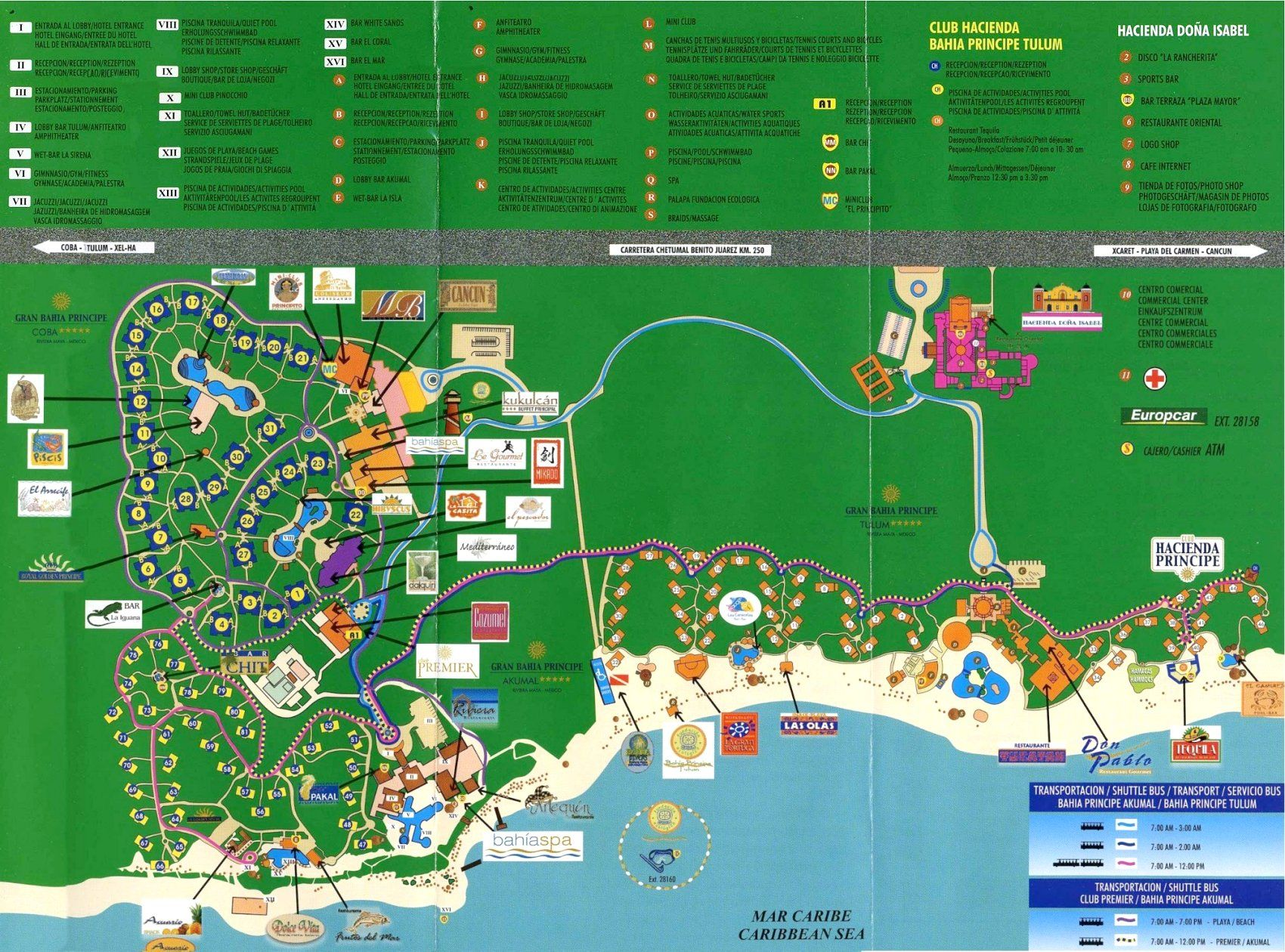 Gran Bahia Principe Coba Map | ... and official property map (resort ...