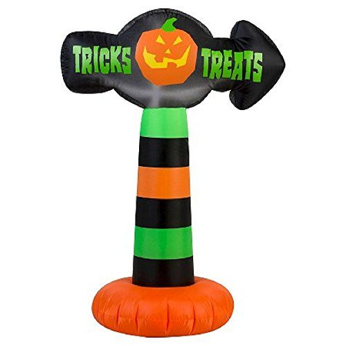 Outdoor Décor-Halloween Inflatable 35 Colorful Trick or Treat Pumkin - halloween inflatable decorations