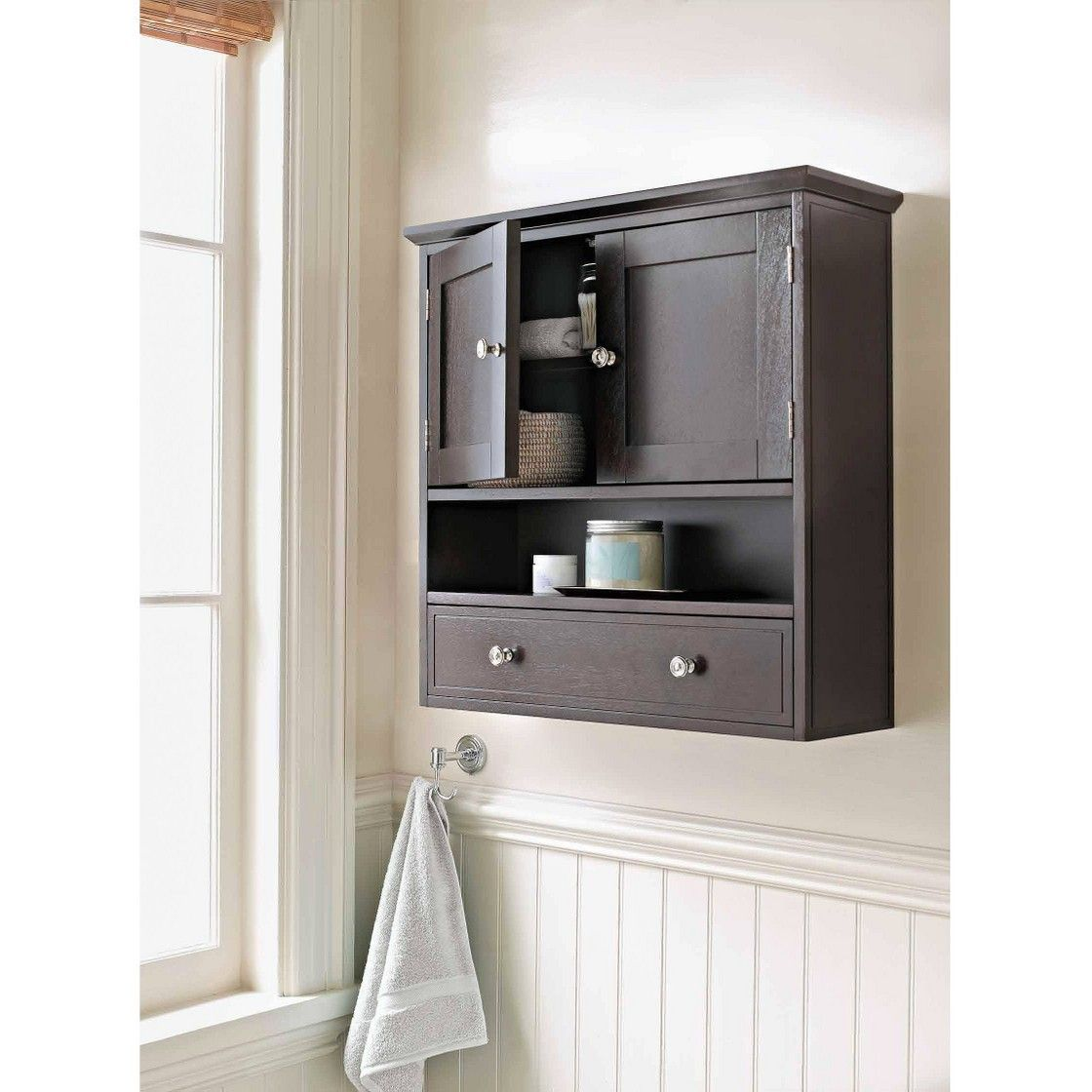 Bridewater Luxury Wall Cabinet Espresso Threshold