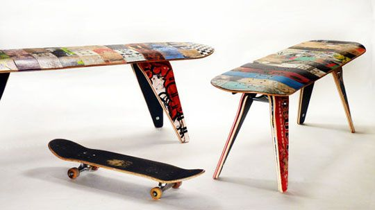 We've seen old skateboard decks recycled to create everything from sunglasses to furniture. One of the latest projects we've stumbled onto is Deckstool, wh