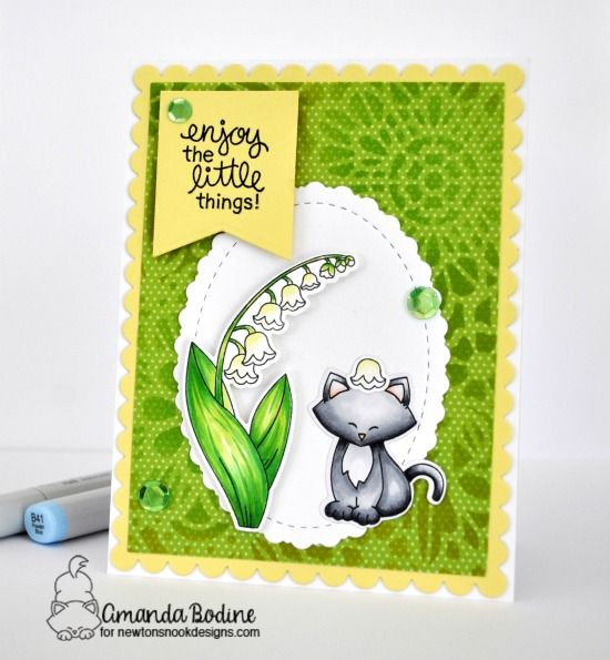 Lily of the Valley Flower Card by Amanda Bodine | Little Lilies and Valley Paper Mena Ny on hawaii paper, maine paper, id paper, north carolina paper,