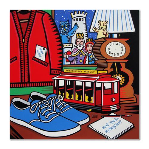 Mister Rogers Neighborhood Daniel Tiger Pop Art By Burton Morris Pop Art Burton Morris Art