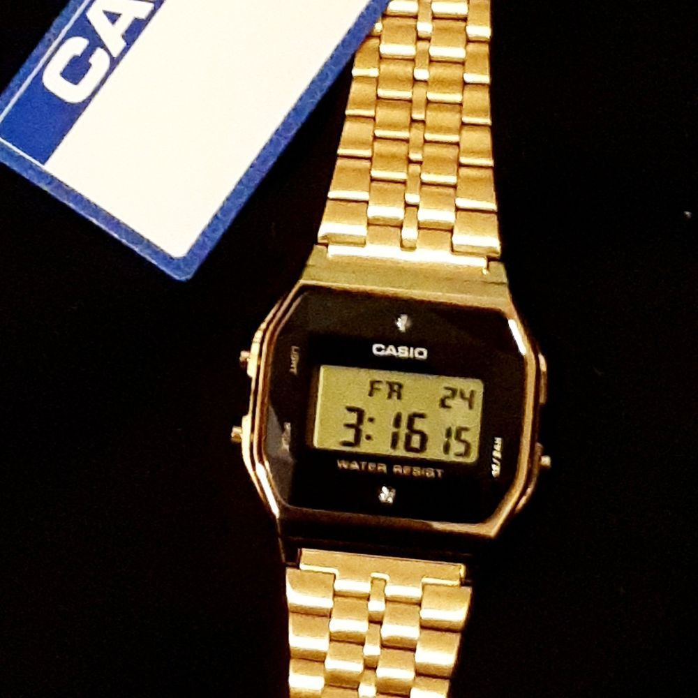 f09f28ccf New Casio Men's A159 Gold Tone/Diamonds Limited Edition bought @ Culture  Kings