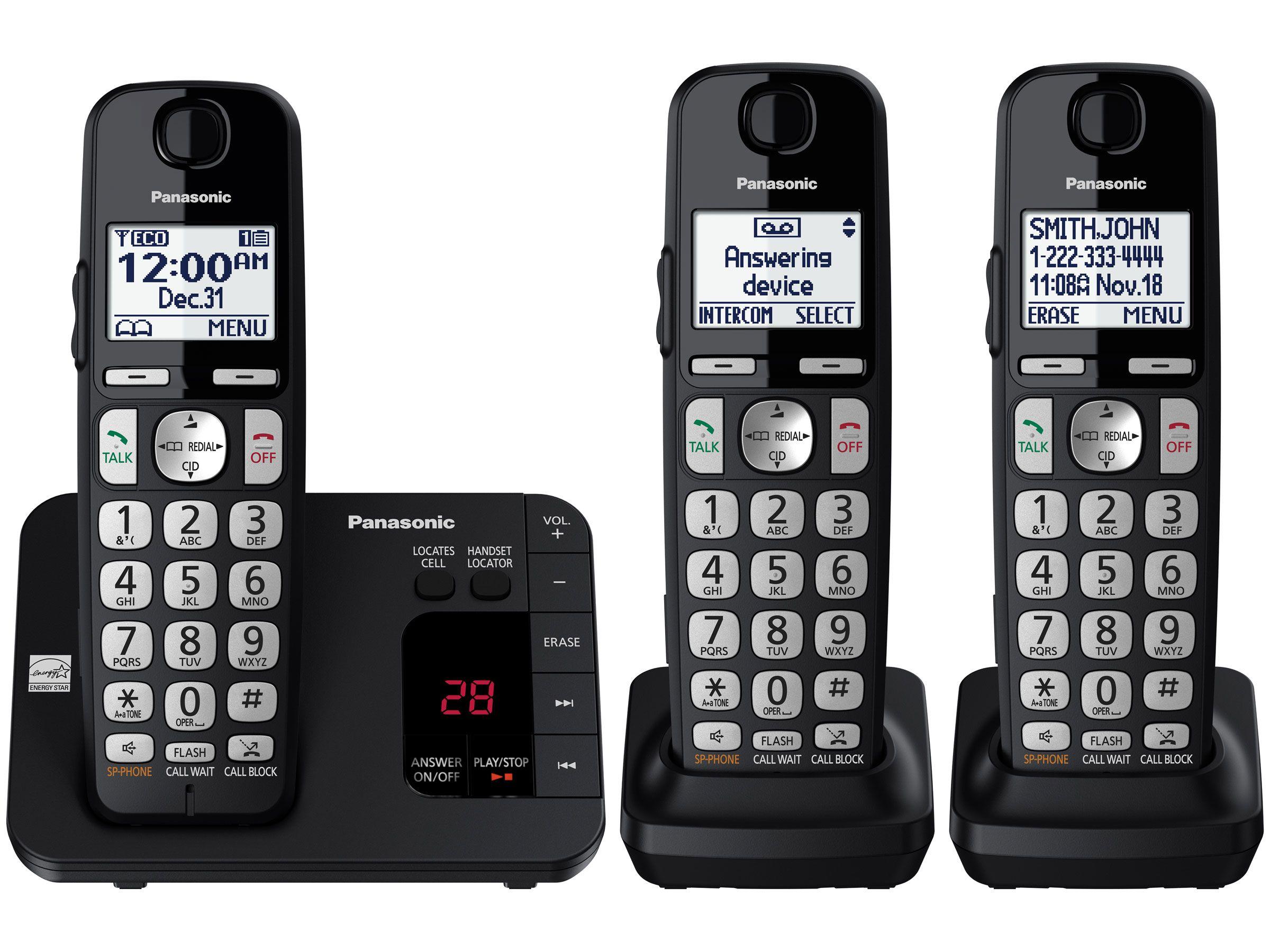 Kx Tge433b Cordless Phone Answering Machines Digital Phone