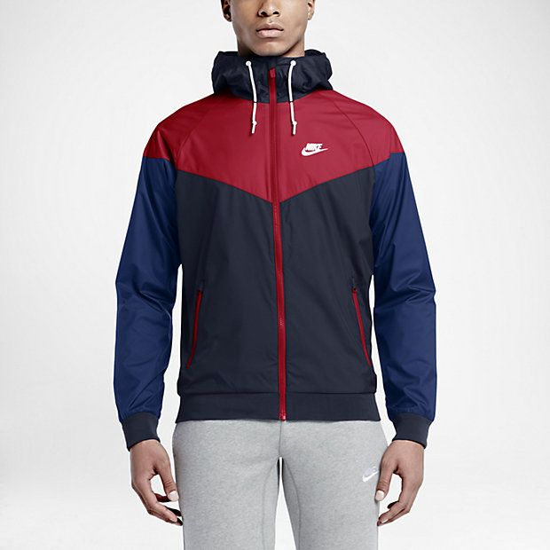Nike Sportswear Windrunner Men's Jackets Obsidian/Red/Royal Blue/White