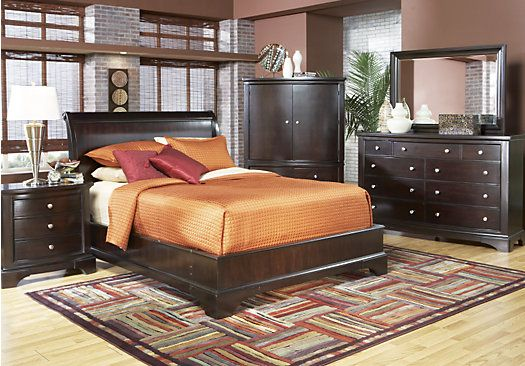 Rooms To Go Bedroom Sets Queen shop for a whitmore cherry platform 5 pc queen bedroom at rooms to