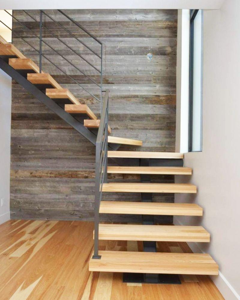 adoptez les escaliers en bois et en m tal pour un. Black Bedroom Furniture Sets. Home Design Ideas
