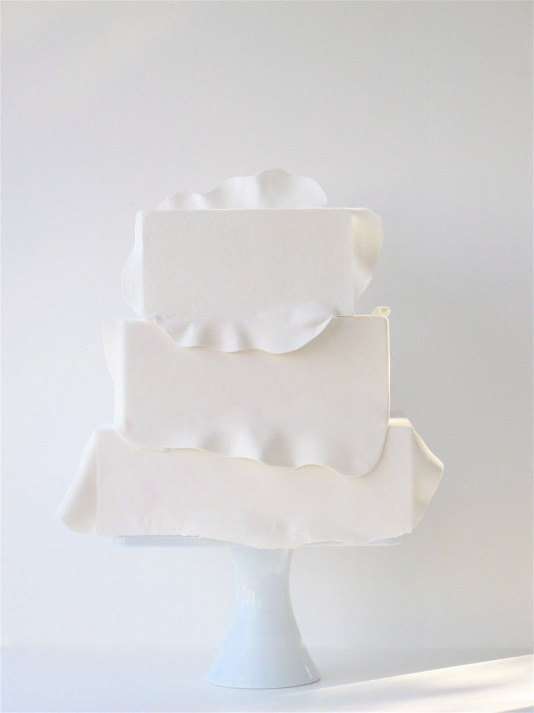 Minimalist wedding cake by maggie austin this is one of my all