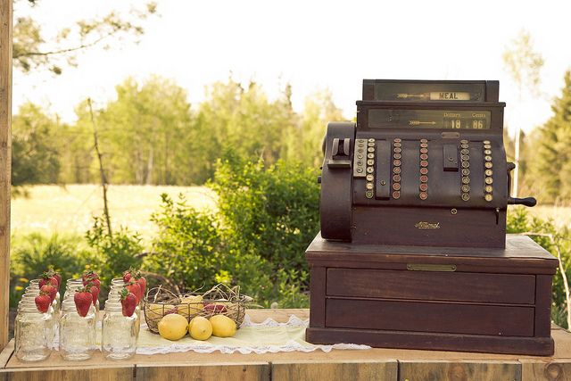 All kinds of vintage rentals for weddings. One could likely DIY this too.    Antique Cash Register by Marvelleevents, via Flickr