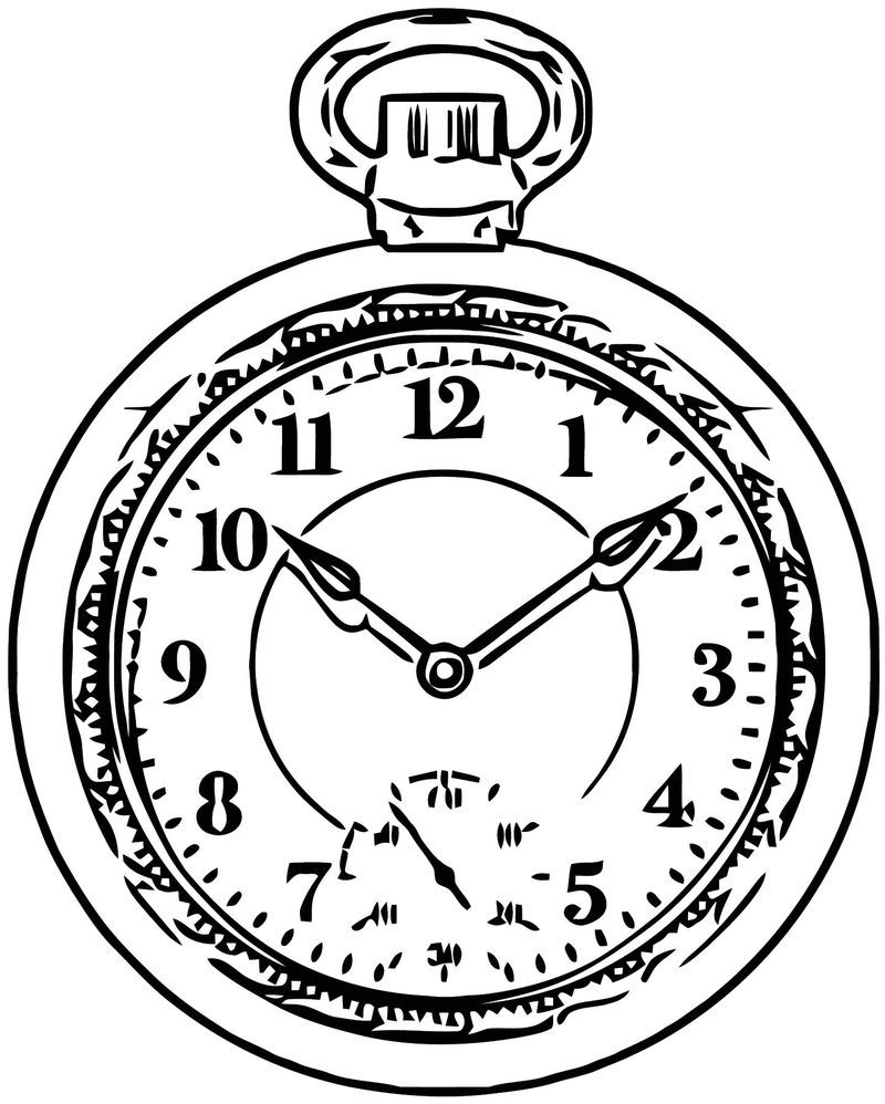 Pocket Watch Clock Png Clip Art 11 Free Printable 22 Cartoonized Free Printable Coloring Page