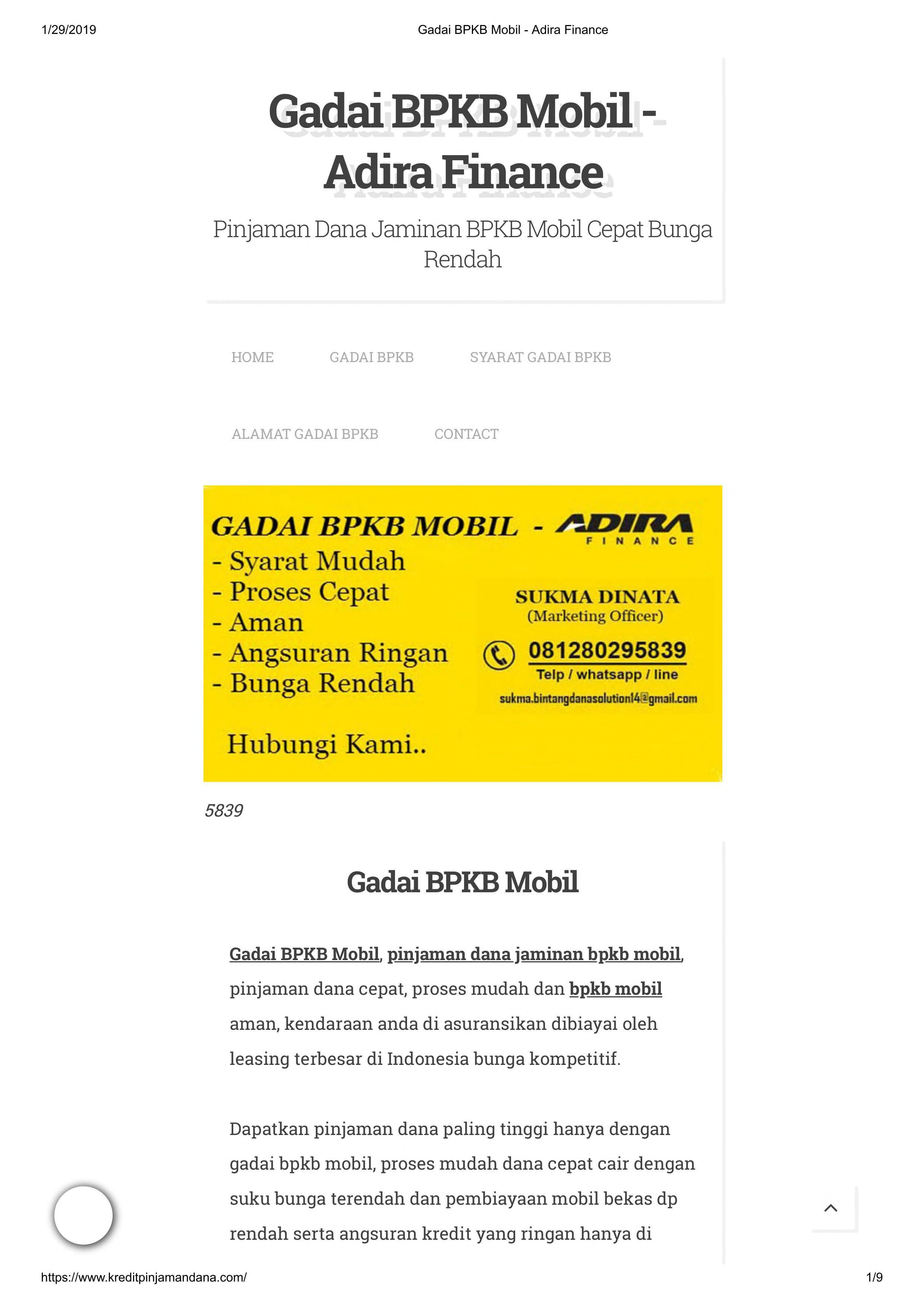 Gadai Bpkb Mobil Adira Finance Free Download Borrow And Streaming Internet Archive Finance Search Marketing The Borrowers