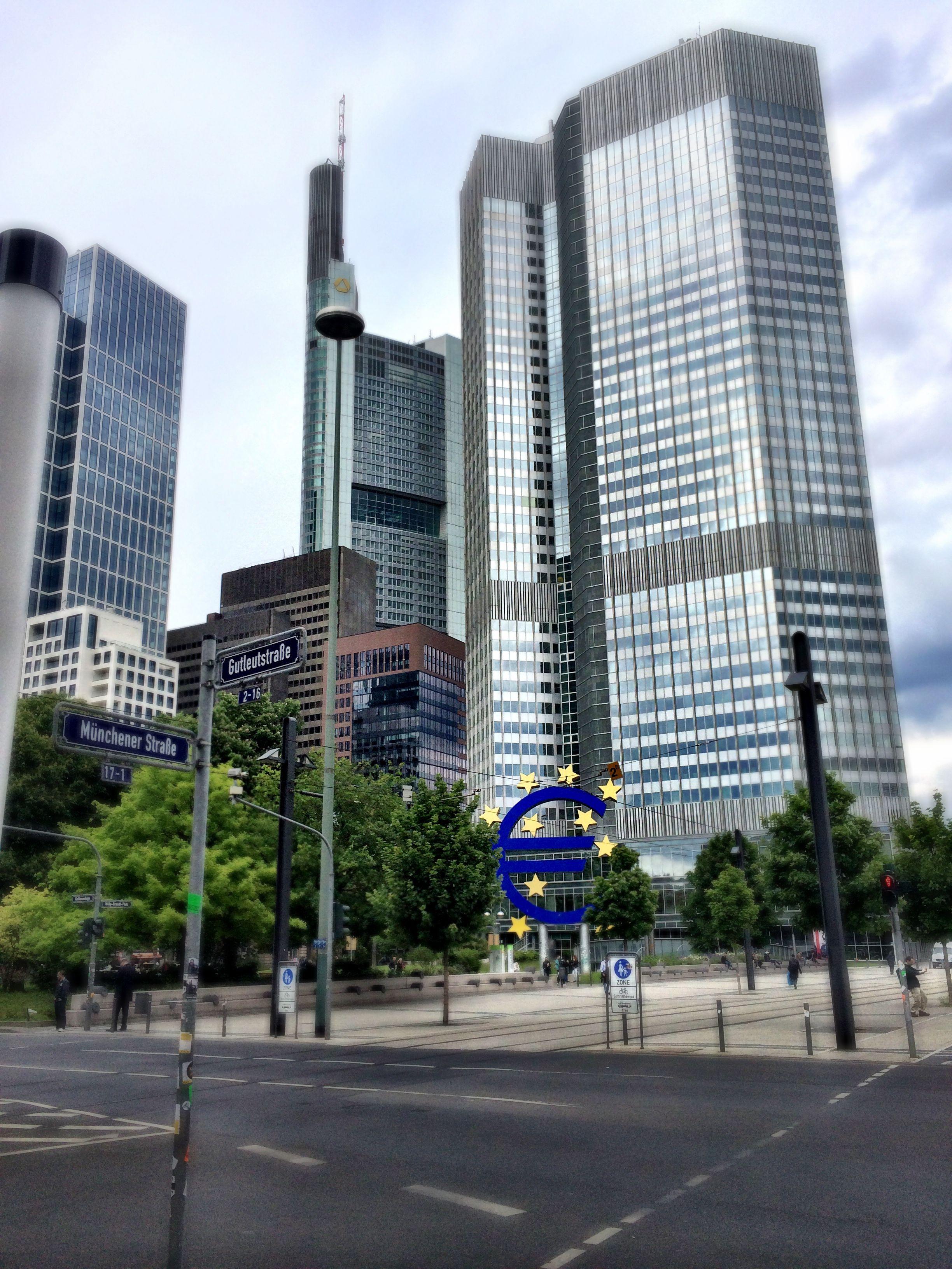 Frankfurt Europäische Zentralbank Zentralbank, Zentral