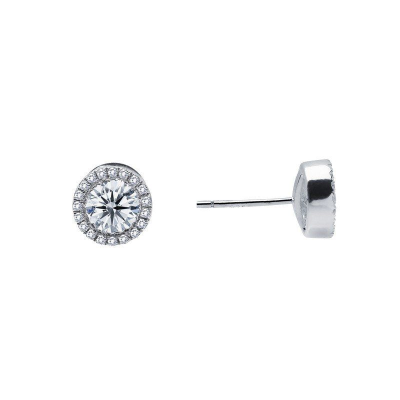 Timeless elegance for everyday wear. These earrings are set with Lafonn's signature Lassaire simulated diamonds in sterling silver bonded with platinum. $125.00 - Lafonn Item #: E2001CLP00 - CTTW: 0.8