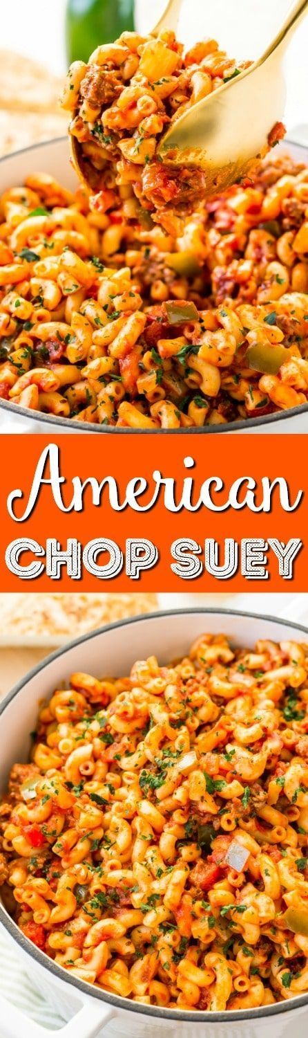 American Chop Suey Is A Delicious And Easy Dinner Recipe Made With Ground Beef Tomato Onion Green Pepper American Chop Suey Diy Food Recipes Yummy Dinners