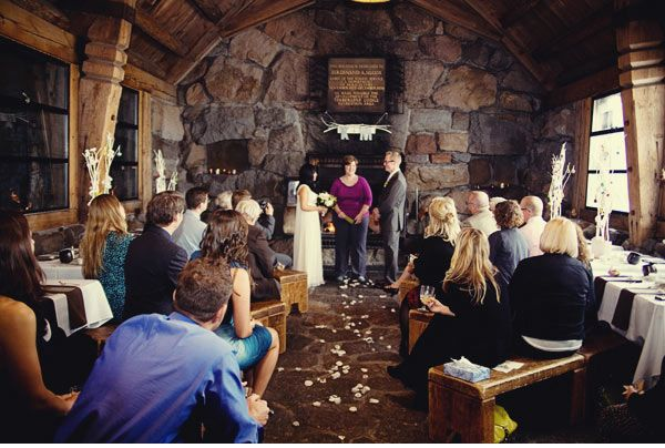 This Is A Cool Wedding I Wish Could Transport My Guests By Snowcat Sweet Intimate Ceremony