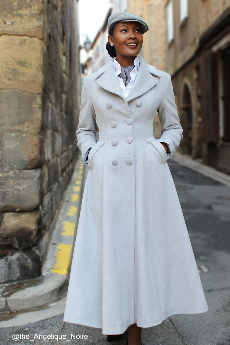 Pin By Ashley Hohman On Aspirational Style In 2021 Winter Coats Women Fit And Flare Coat Wool Coat Women [ 1191 x 794 Pixel ]