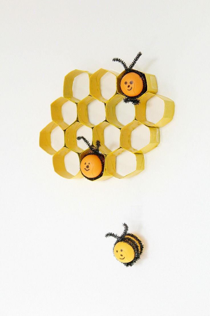 TOILET PAPER ROLL HONEYCOMB CRAFT - Looking for a fun and easy craft ...