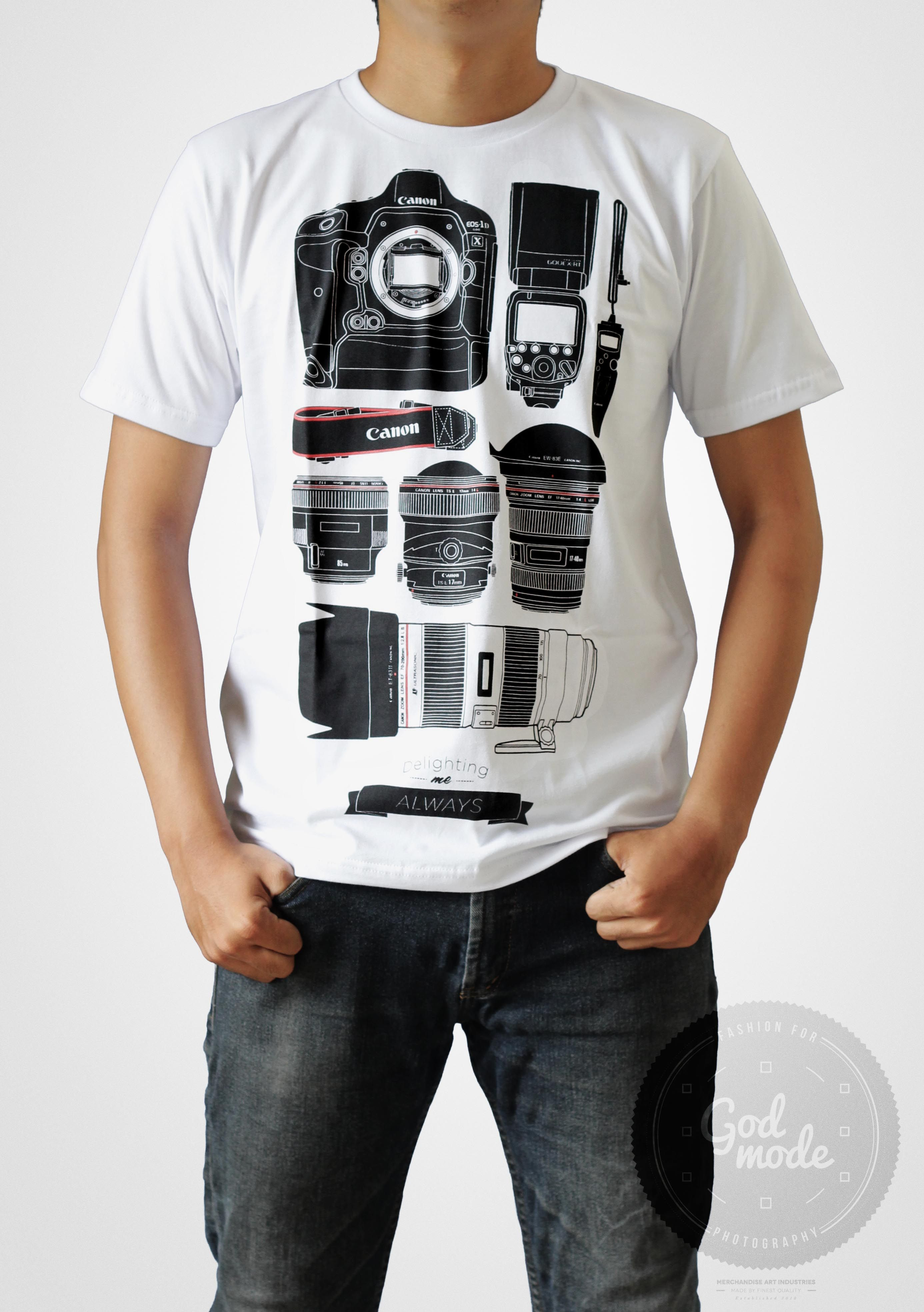 Black dog t shirt ebay -  18 Usd Canon Equipment T Shirt Photography Delighting Me Always