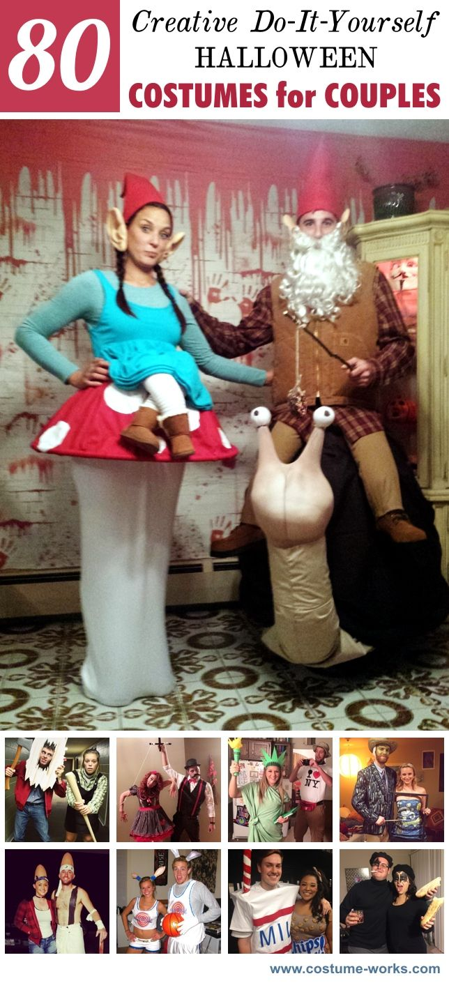 80 creative diy halloween costumes for couples diy halloween 80 creative diy halloween costumes for couples solutioingenieria Gallery