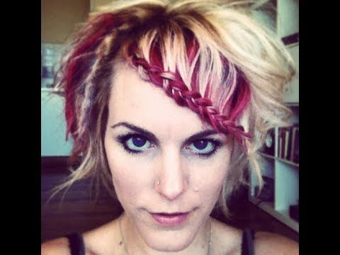 Braided bangs. How to style your bangs in a fun way, great ...
