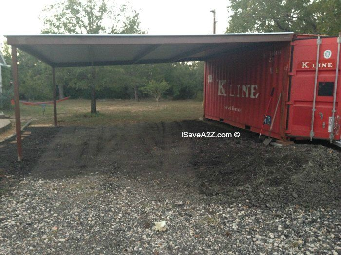 Awesome Shipping Container Storage Ideas Part - 9: Shipping Container Carport And Storage Idea