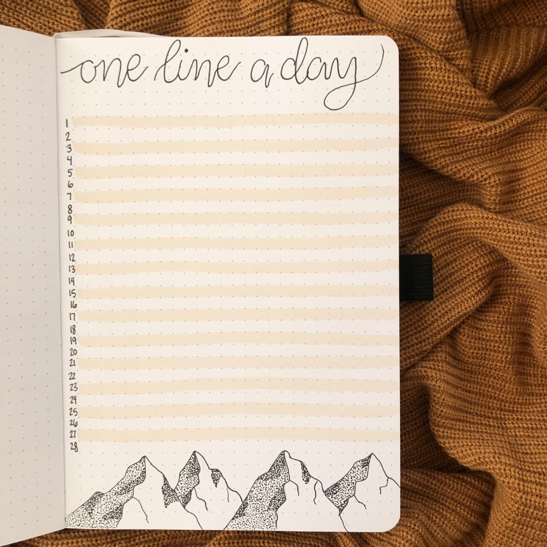 One Line a Day Bullet Journal